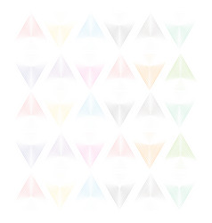 linear triangle colorful vector image