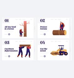 Logger professional occupation job website vector