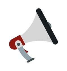 Loudspeaker icon in flat style vector image