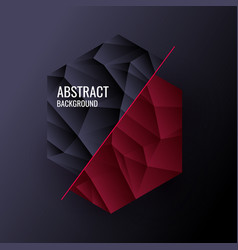 low poly design abstract polygonal object vector image