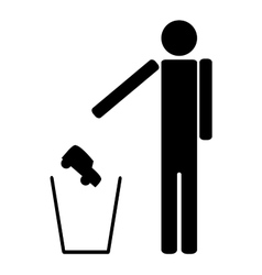 Man throws in the trash car vector