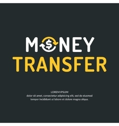 Modern money transfer logo and emblem vector