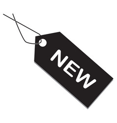 New tag on white background new item sign flat vector