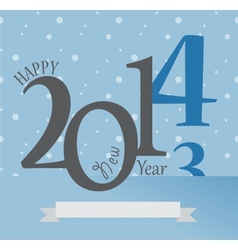 New Year Greetings Card of 2014 Happy Holidays vector image