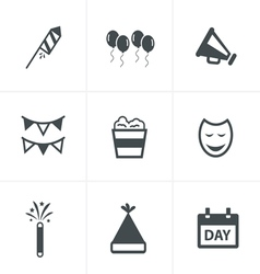 party Icons Set Design vector image