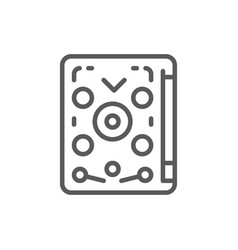 Pinball playing machine game line icon vector
