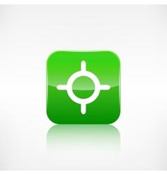 Pointer web icon Application button vector