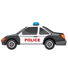 Police car in black and white vector