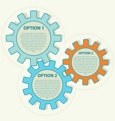 Presentation template with three options vector