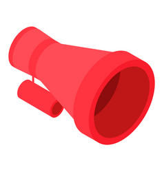 red bullhorn icon isometric style vector image
