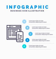 responsive design website mobile blue vector image