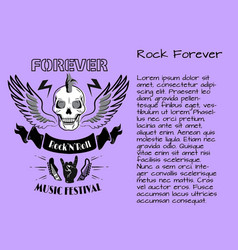 rock and roll forever music festival poster vector image