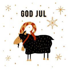 Scandinavian christmas tradition christmas yule vector