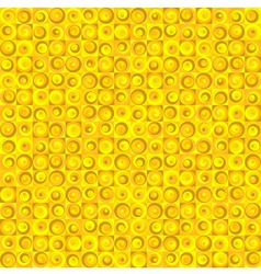 Seamless Circles Yellow vector image