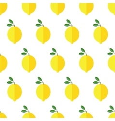 Seamless lemon pattern on white background vector