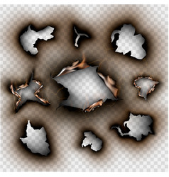Set design elements torn paper with place vector