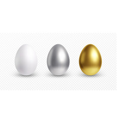 set different 3d realistic shiny golden vector image