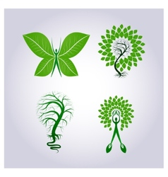 set environmental protection vector image