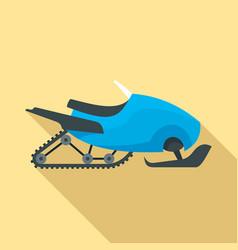 Snowmobile icon flat style vector