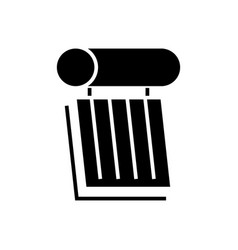 solar battery 2 icon black vector image