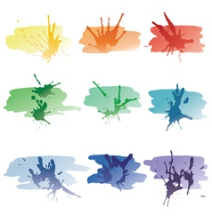 Spots of a paint vector image
