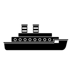 Steamship icon simple black style vector
