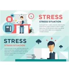 Stress on work office life and business man vector
