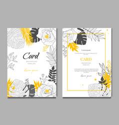 summer tropical wedding floral frame background vector image