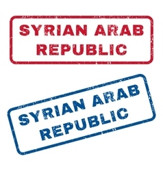 Syrian Arab Republic Rubber Stamps vector