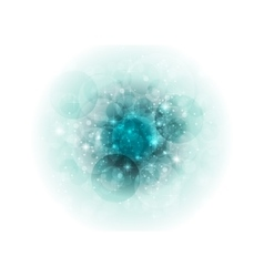 Turquoise bokeh sparkling abstract vector image