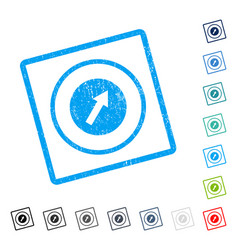 Up-right rounded arrow icon rubber watermark vector