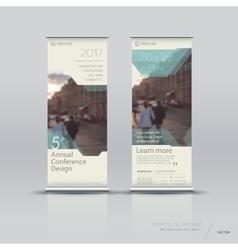 Vertical banner template design vector image