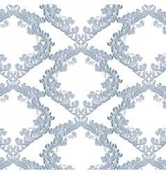 Vintage Floral Baroque ornament damask pattern vector