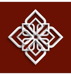 White 3d ornament in arabic style vector