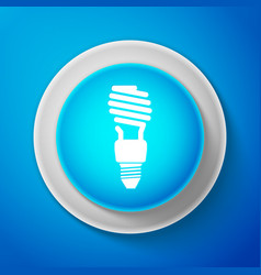 white energy saving light bulb icon vector image