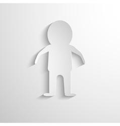 White paper figure man vector