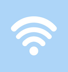 white wi fi icon on blue background wi fi icon in vector image