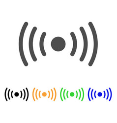 Wi-fi point icon vector