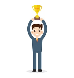 Winner Businessman vector image