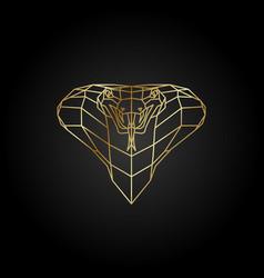 Abstract gold cobra polygon template vector