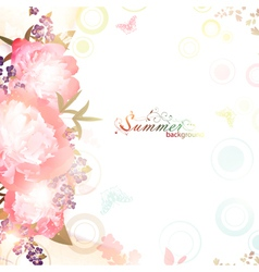 Abstract summer floral background vector