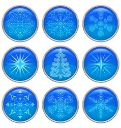Christmas buttons set vector image