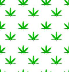 Green weed cannabis leaf pattern vector image vector image