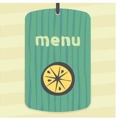 Lemon or orange slice fruit icon modern logo vector