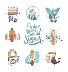 Letternit with palm trees and animals vector image vector image