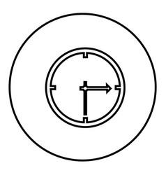 figure sticker clock icon vector image