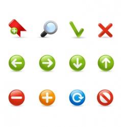 gel icon set navigation vector image