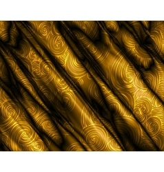 Golden silky swirly luxury background vector image