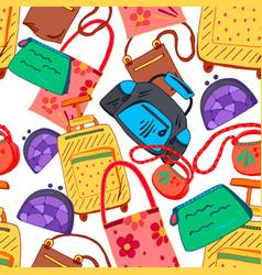 hand bag seamless pattern vector image vector image