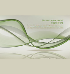 abstract wave background in green color vector image vector image